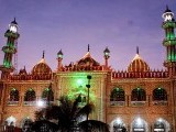 The New Memon Mosque in Karachi lights up in the twilight ahead of Eid Miladun Nabi (pbuh). PHOTO: INP
