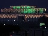 Aiwan-e-Sadr (President House) decked in lights ahead of Eid Miladun Nabi (pbuh) in Islamabad. PHOTO: ONLINE