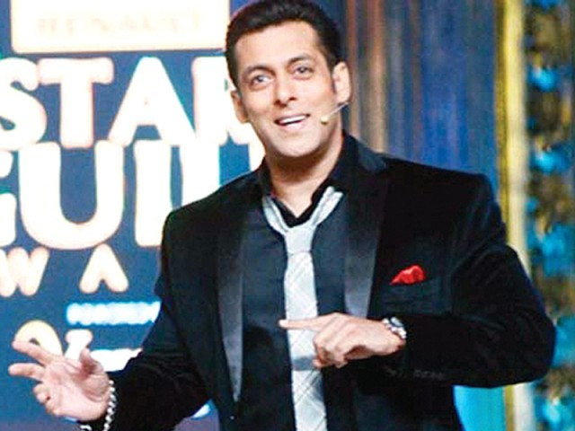 Salman Khan, all lit up while hosting The Star Guild Awards 2014. PHOTO: FILE