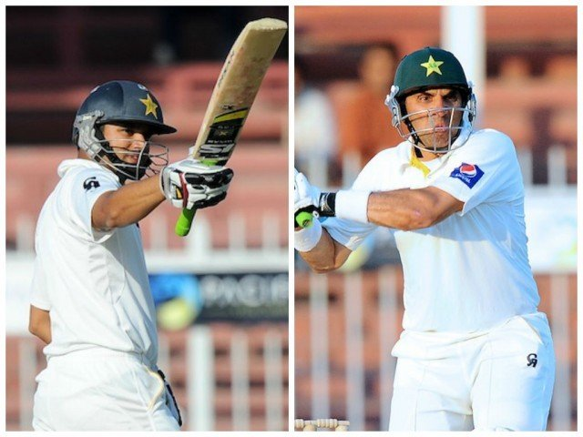 Misbahul Haq, Azhar Ali help Pakistan accomplish their second highest Test run chase and level the series 1-1 with Sri Lanka. PHOTOS: AFP