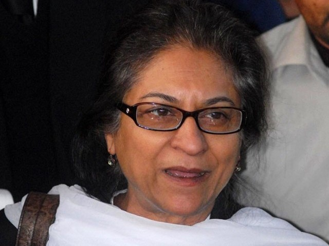 Former Supreme Court Bar Association's president Asma Jahangir. PHOTO: ONLINE
