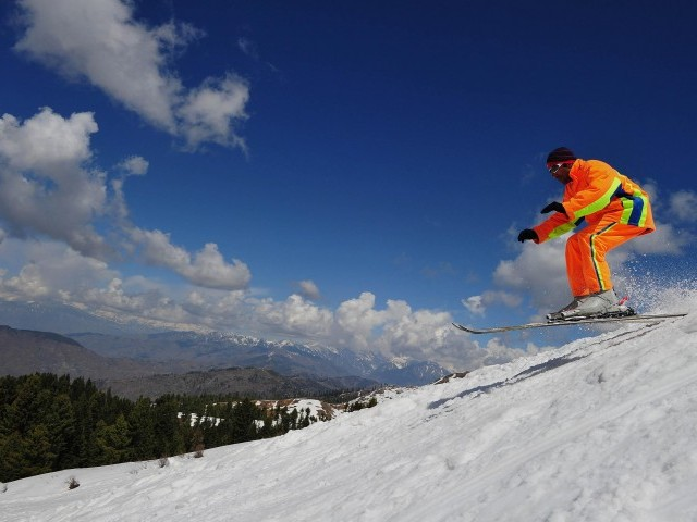 Karim, who grew up skiing in Naltar, qualified for Sochi with a 132.40-point finish in the International Ski Federation races. PHOTO: AFP/FILE