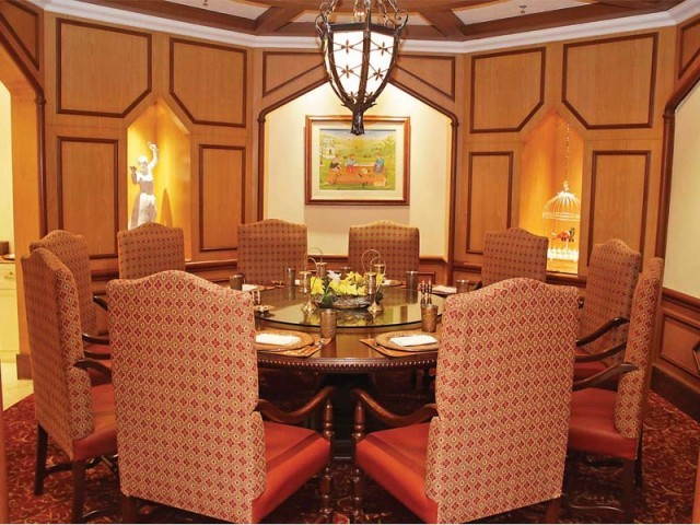 The restaurant is a visual treat and gives one a taste of the Nawabi lifestyle, literally. PHOTO: SHAFIQ MALIK/EXPRESS