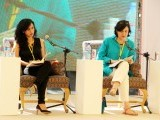 "The launch of ""A God in Every Stone"" by Kamila Shamsie moderated by Maryam Wasif Khan. PHOTO: AYESHA MIR/EXPRESS"