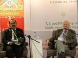 "The launch of ""Language, Gender and Power: The Politics of Representation and Hegemony in South Asia"" by Shahid Siddiqui moderated by Raza Rumi. PHOTO: AYESHA MIR/EXPRESS"