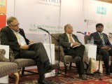 "A discussion on ""Pakistani Nationalism: The Extremist Threat"" by Syed Jaffar Ahmed and Mohsin Babbar moderated by Javed Jabbar. PHOTO: ATHER KHAN/AYESHA MIR/EXPRESS"