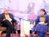 A presentation on Qawwali Music and the Sufi Poetry tradition by Mahmood Jamal moderated by Sarwat Mohiuddin. PHOTO: ATHER KHAN/AYESHA MIR/EXPRESS