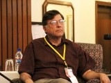 Pervez Hoodbhoy during a session. PHOTO: ATHER KHAN/AYESHA MIR/EXPRESS