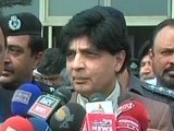 Express News screengrab showing Interior Minister Chaudhry Nisar Ali Khan.