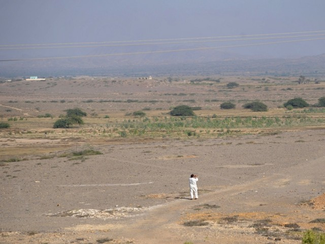 Proposed site of Energy Park in Qadir Goth, a village of Sindh. PHOTO: AFP