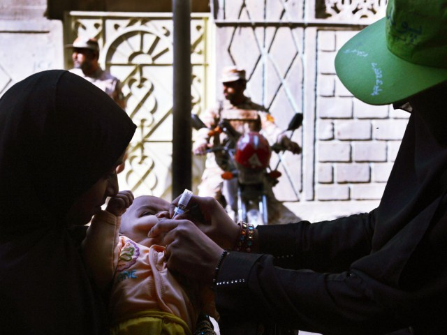 The total target for Sunday's campaign is 494,774 children where 3,090 polio teams will participate.  PHOTO: AFP/FILE