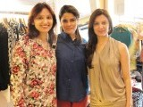 Ambreen, Afreen and Sahera. Anoushey Ashraf and Natasha Qizalbash of Block Seven exhibit their western line at Ellemint Pret, Karachi. PHOTOS COURTESY IDEAS EVENTS PR