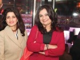 Madiha and Romana Aziz. Johnny Rockets opens its outlet in Lahore. PHOTOS COURTESY TAKEII
