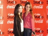Shireen Rehman and Maha Khalid. Coca-Cola announces the return of Coke Studio in Lahore. PHOTOS COURTESY FAISAL FAROOQUI AND HIS TEAM AT DRAGONFLY