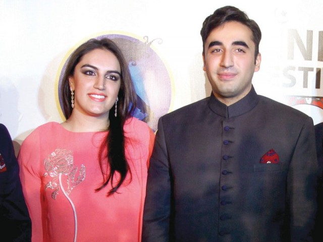 Bakhtawar Bhutto and Bilawal Bhutto. Sindh festival holds a fashion festival in Karachi. PHOTOS COURTESY TAKEII