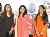 Laeeq Akbar, Sadia Khan and Rasheeda. Sindh festival holds a fashion festival in Karachi. PHOTOS COURTESY TAKEII