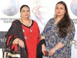 Sussi Rashid and Sundus Rashid. Sindh festival holds a fashion festival in Karachi. PHOTOS COURTESY TAKEII