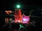 An illuminated float during the Canal Mela. PHOTO: INP