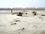 With the river having dried up, the river bed is mined by construction companies for gravel. PHOTO: EXPRESS