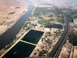 An aerial view of Channel Mori filter plant in Hyderabad full of contaminated drinking water. PHOTO: ONLINE