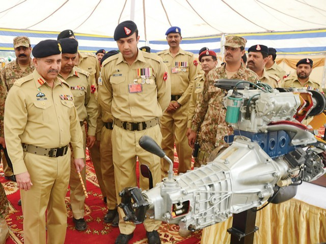The equipment displayed included tanks, armoured personnel carriers, light and heavy arms, ammunition and field artillery. PHOTO COURTESY: ISPR