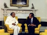 Bhutto with Former American President Richard Nixon in the East Room of the White House in 1973. PHOTO:  NATIONAL ARCHIVES AND RECORDS ADMINISTRATION