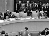 Bhutto addresses the Kashmir dispute at the UN Council in 1964. PHOTO: FILE