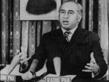 Bhutto adressing reporters on Radio Pakistan in December 1971. PHOTO: AFP