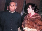 The 9th Prime Minister of Pakistan with his Iranian wife Nusrat Bhutto whom he married in September 8, 1951. PHOTO: FILE