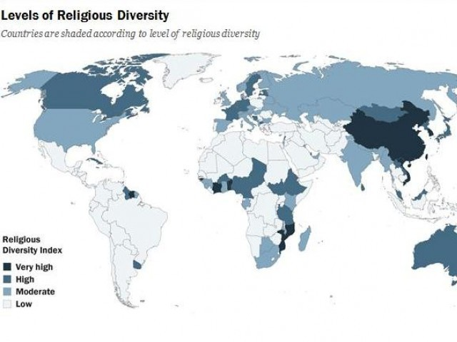 Religious Map Of Asia.In A Religiously Diverse Asia Pakistan One Of The Least Diverse