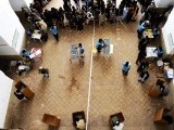 Afghans vote at a local polling station set up in Jamee Mosque of Herat. PHOTO: AFP