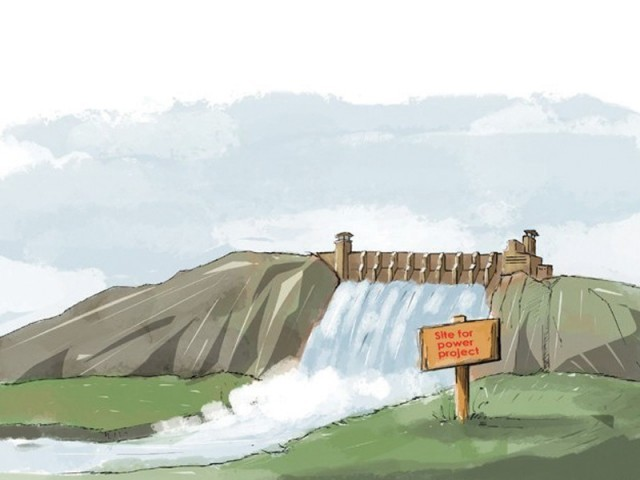 Last month, Afghanistan's National Security Council opposed the construction of Dasu hydropower project, saying it would be against the principles of joint rivers. ILLUSTRATION: JAMAL KHURSHID