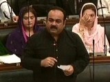 Express News screengrab of MQM MPA Khawaja Izharul Hassan.