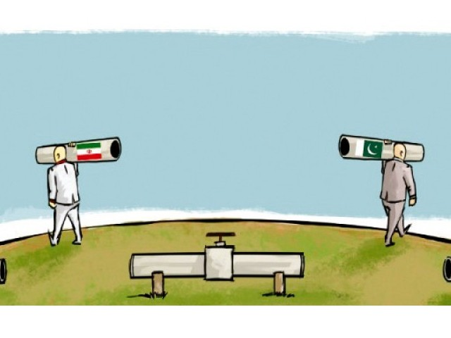 The move may spark legal wrangling between the two countries over a project conceived years ago to bridge the widening gap between demand and supply of energy in Pakistan. ILLUSTRATION: JAMAL KHURSHID