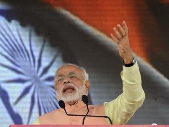 """It will be a Modi government this time. Good days are ahead of you,"" says Modi. PHOTO: REUTERS/FILE"
