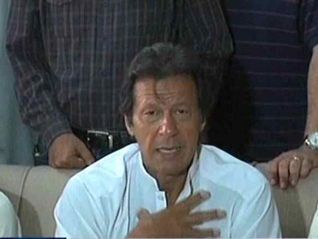 Express News screengrab of PTI Chief Imran Khan.