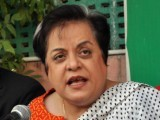 PTI central information secretary Shireen Mazari. PHOTO: ZAFAR ASLAM