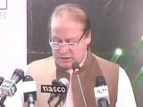 Express News screengrab of Prime Minister Nawaz Sharif addressing the ceremony.