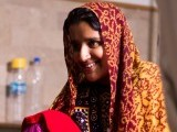 Sheher Bano from a village in Thatta is 15 years old and developed a fistula during the birth of her first baby. PHOTO: FAISAL SAYANI