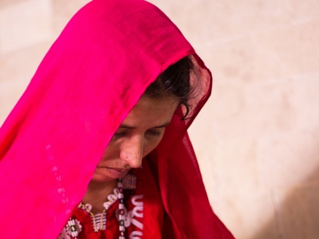 Gul Dana, from Balochistan, developed fistula during her first baby's birth. PHOTO: FAISAL SAYANI