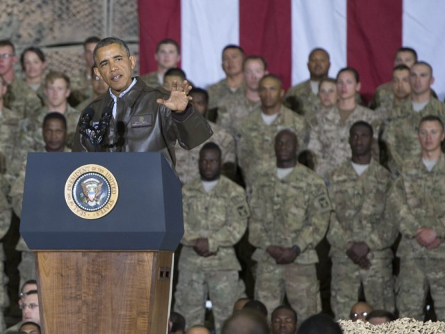 Obama warned that in ending the US mission in Afghanistan, it will be the Afghans who would have to pick up the pieces of their war torn country. PHOTO: AFP