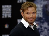 Actor and model Kellan Lutz poses for the camera's. PHOTO: AFP