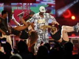 Jason Derulo delivers an action packed performance, with the help of dancers and acrobats. PHOTO: REUTERS