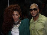 Newbie Natalie La Rose and Rapper Flo Rida reach the awards. Flo Rida later amazed the crowd with his performance during the ceremony. PHOTO: AFP