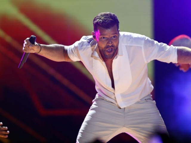 Ricky Martin stuns the audience with his electrifying performance. PHOTO: AFP