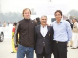 Agustin Canale, Agha Najeeb Raza Khan, Sufi Muhammad Haris.  Porsche Pakistan sponsors the National Polo Open for the Quaid-e-Azam Gold Cup 2014 in Lahore. PHOTOS COURTESY PORSCHE PAKISTAN