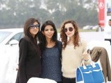 Foha, Shireen and Haiya. Porsche Pakistan sponsors the National Polo Open for the Quaid-e-Azam Gold Cup 2014 in Lahore. PHOTOS COURTESY PORSCHE PAKISTAN