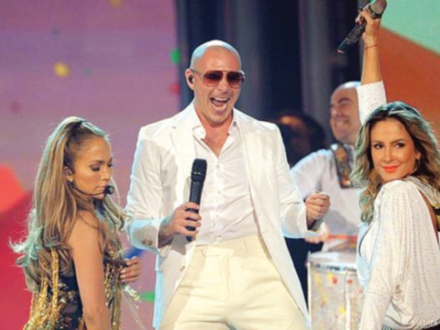 Working with JLo and Claudia was great says Pitbull. It was like creating music to bring the world together. PHOTO: FILE