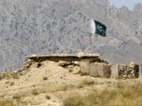 A file photo of a security check post on the border between Pakistan and Afghanistan. PHOTO: REUTERS