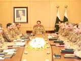 Army chief Gen Raheel Sharif chairs the Corps Commander meeting in Rawalpindi on Monday. PHOTO: ISPR